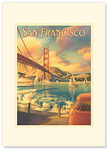 San Francisco - Premium Vintage Collectible Blank Greeting Card