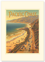 Pacific Coast - Premium Vintage Collectible Blank Greeting Card