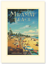 Montecito's Miramar Beach - Premium Vintage Collectible Blank Greeting Card