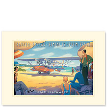 Palm Beach Aero - Premium Vintage Collectible Blank Greeting Card