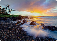 Secret Sunset - Hawaiian Thick Premium Postcard