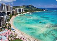 Waikiki - Hawaiian Thick Premium Postcard