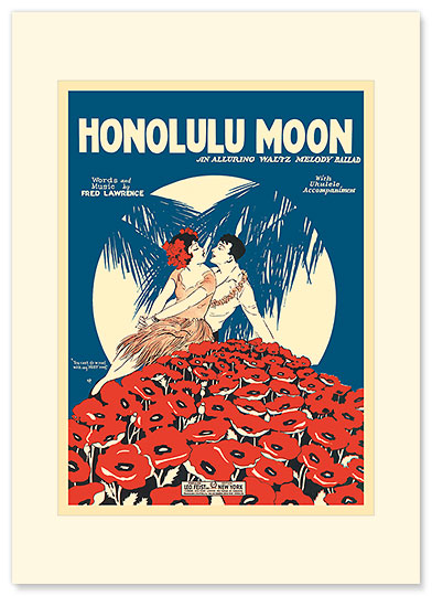 Honolulu Moon - Personalized Vintage Collectible Greeting Card