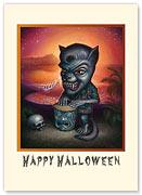 Werewolf - Halloween Greeting Card