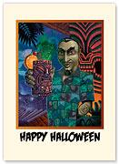 Bela Lugosi has a Zombie - Halloween Greeting Card