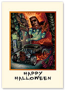 Faster than Disaster - Halloween Greeting Card