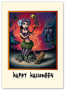 Jungle Witch - Halloween Greeting Card