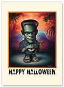 Frankenstein - Halloween Greeting Card