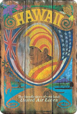 Hawaiian Vintage Postcard Hawaii United Air Lines
