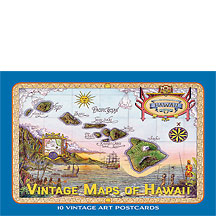 Vintage Maps of Hawaii - Hawaiian Boxed Postcards