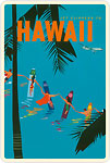 Jet Clippers Hawaii - Hawaiian Vintage Postcard