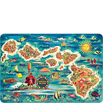 Map of the Hawaiian Islands - Hawaiian Vintage Postcard