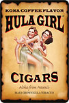 Hula Girl Cigars Aloha from Hawaii - Hawaiian Vintage Postcard