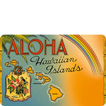 Aloha Hawaiian Islands - Hawaiian Vintage Postcard