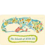 The Islands of Hawaii - Hawaiian Vintage Postcard