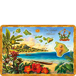 The Islands of Hawaii - Hawaiian Vintage Postcard