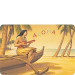 Aloha Serenade - Hawaiian Vintage Postcard