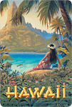 Hawaii - Isle of Paradise - Hawaiian Vintage Postcard