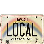Local License Plate - Hawaiian Vintage Postcard