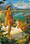 Aloha - Hawaiian Vintage Postcard