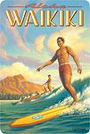 Aloha Waikiki - Hawaiian Vintage Postcard