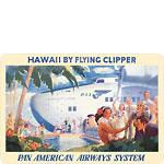 Hawaii by Flying Clipper - Pan American Airways (PAA) - Hawaiian Vintage Postcard