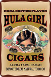 Hula Girl Cigars - Hawaiian Vintage Postcard