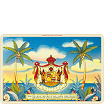 Aloha Nui - Hawaiian Coat of Arms - Hawaiian Vintage Postcard