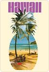 Hawaii Pineapple - Hanauma Bay Beach - Hawaiian Vintage Postcard