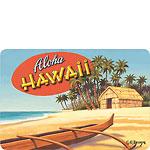 Aloha Hawaii - Hawaiian Vintage Postcard