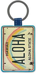 Aloha License Plate - Hawaiian Leatherette Keychains