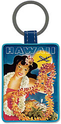 United Air Lei - Hawaiian Leatherette Keychains