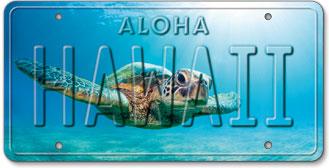 Honu Flare - Hawaiian Vintage License Plate