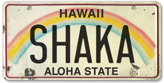 Shaka - Hawaiian Vintage License Plate