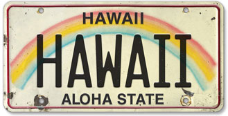 Hawaii - Hawaiian Vintage License Plate