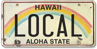 Local - Hawaiian Vintage License Plate