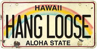 Hang Loose - Hawaiian Vintage License Plate Magnets