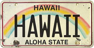 Hawaii - Hawaiian Vintage License Plate Magnets