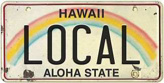 Local - Hawaiian Vintage License Plate Magnets