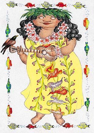 Hawaiian happy birthday greeting card tutus mele tutus mele hawaiian happy birthday greeting card m4hsunfo