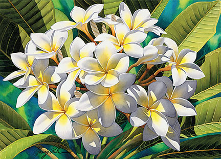 Plumeria - Personalized Greeting Card