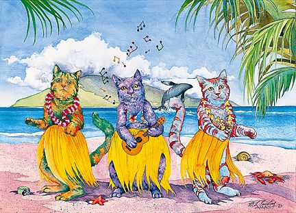 Meow Hula Halau - Personalized Greeting Card