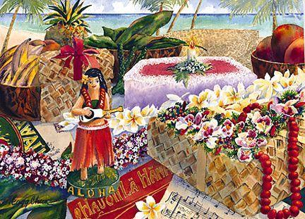 Hawaiian happy birthday greeting card birthday party birthday party hawaiian happy birthday greeting card m4hsunfo