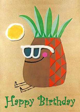 Hawaiian Happy Birthday Greeting Card - Life's a Beach