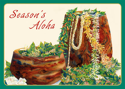 A Lei Never Forgotten - Hawaiian Holiday / Christmas Greeting Card