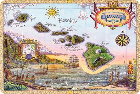 Map Of Old Hawaii