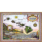 Map of Old Hawaii - Hawaiian Everyday Blank Greeting Card