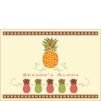 Holiday Pineapple - Personalized Holiday Greeting Card