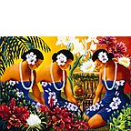 Silent Preparation - Hawaiian Happy Birthday Greeting Card