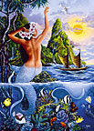 Wahine From The Sea - Personalized Greeting Card